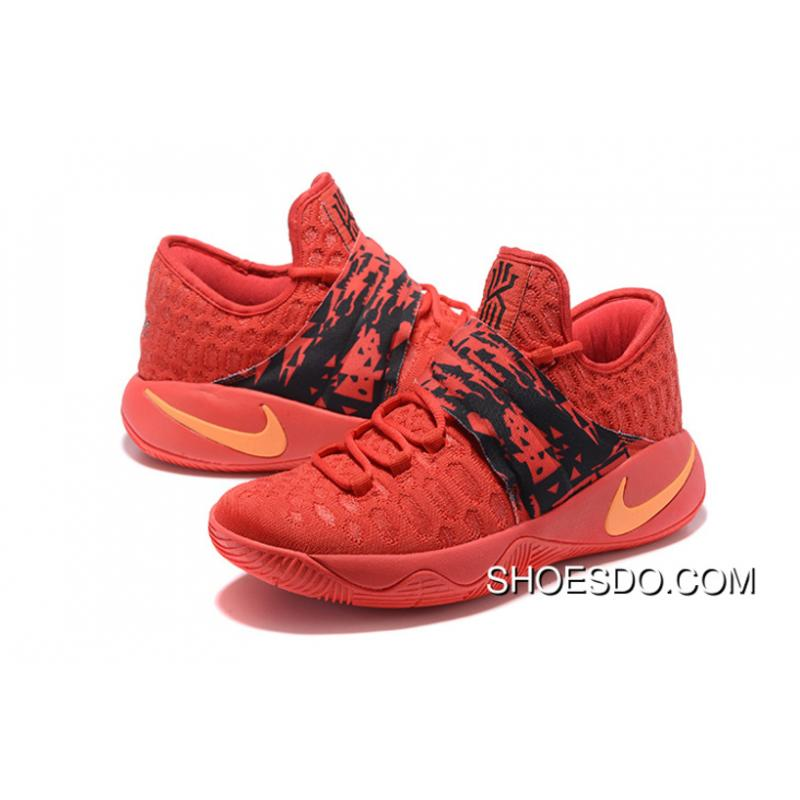 Nike Kyrie Irving 2.5 Red Black Orange Basketball Shoes New Style