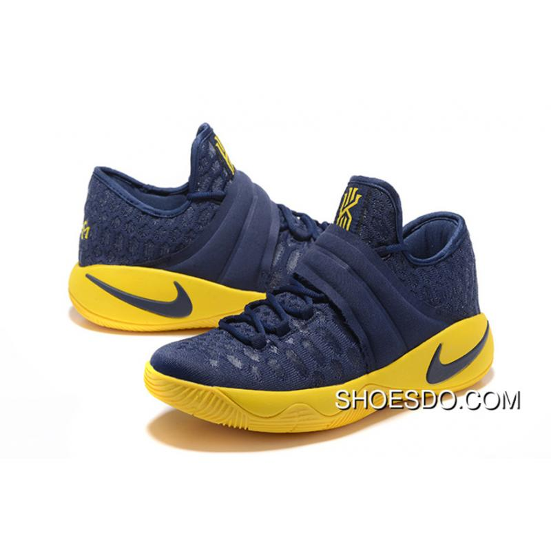 sports shoes 4c87c ac386 New Nike Kyrie Irving 2.5 Blue Yellow Basketball Shoes Online
