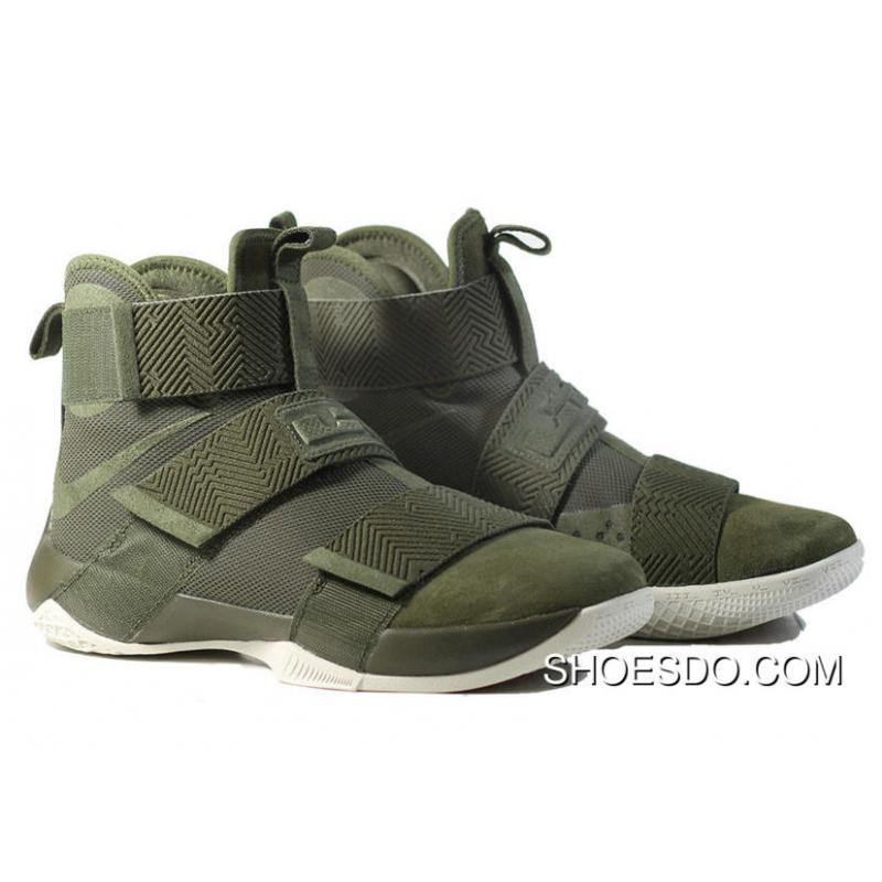 wholesale dealer f950d 222cf Shop Real Lebron James Soldier 10 SFG LUX Cargo Khaki 911306-330 Free  Shipping