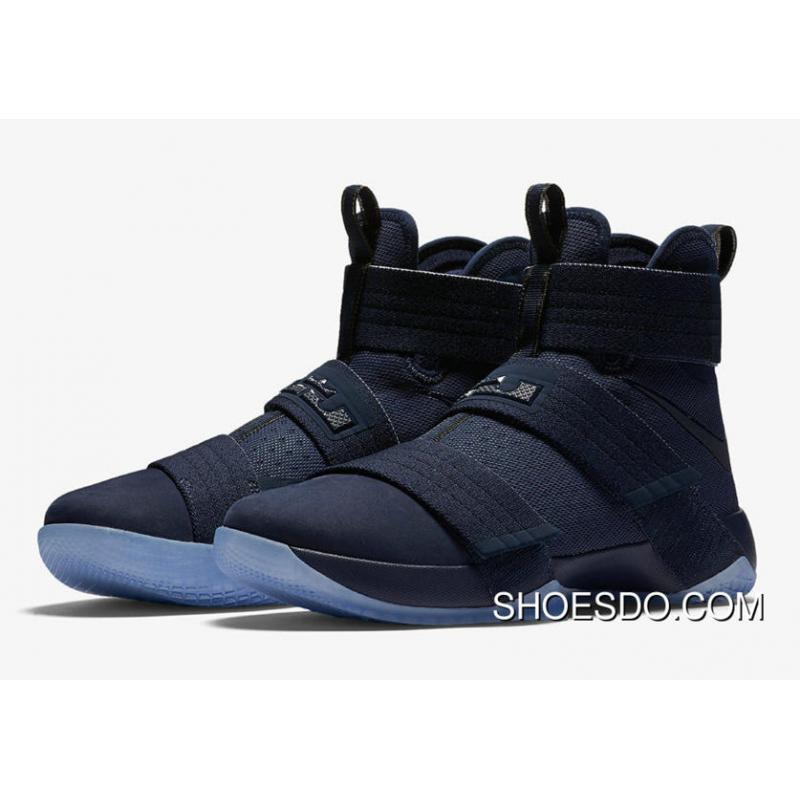 Shop Real Lebron James Soldier 10 Goes Full Blue Midnight Navy 844378-444  New Style ...