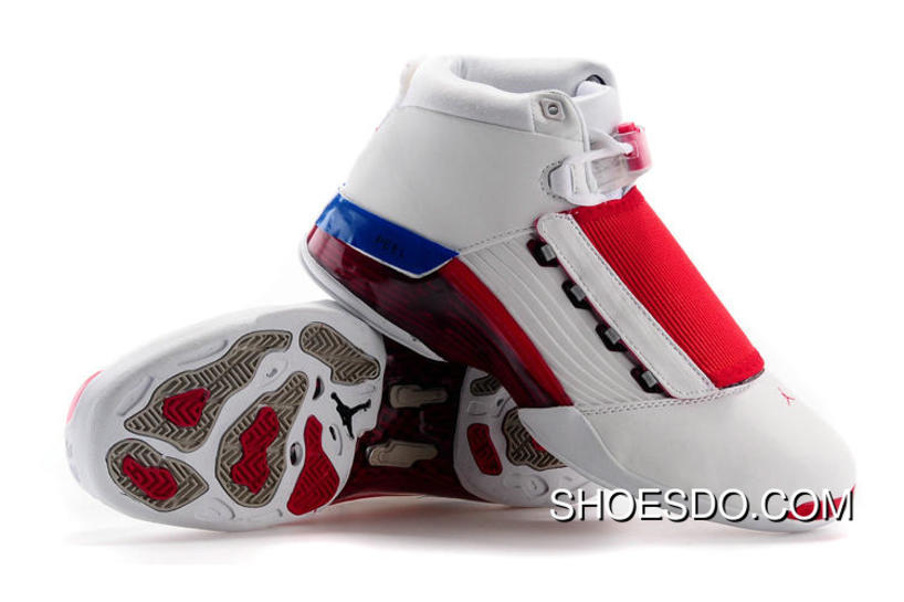 new product 96095 fc026 Cheap Real Air Jordan 17 White Varsity Red Charcoal 302720-161 Online