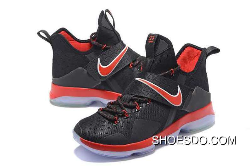 Men Nike Lebron 14 Black Red Shoes New Style