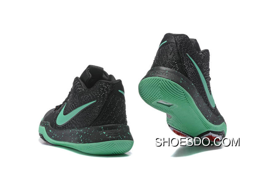 finest selection 3864d e3d7f Nike Kyrie 3 Official Website Black Green Glow Free Shipping