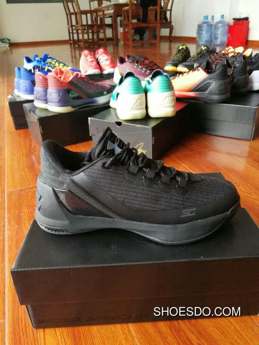 the best attitude 479f0 86878 Legit Under Armour Curry 3 Low All Black New Style